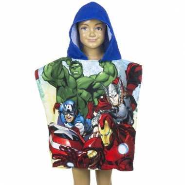 Avengers badcape blauw voor kinderen groot