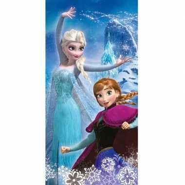 Disney frozen elsa en anna strand/bad handdoek 70 x 140 cm groot