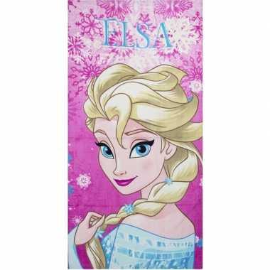 Disney frozen elsa strandlaken/strandlaken roze 70 x 140 cm groot