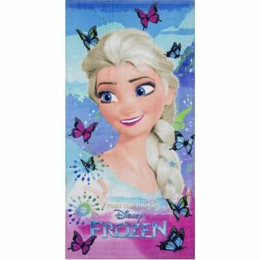 Disney frozen elsa vlinders strandlaken/strandlaken 70 x 140 cm groot