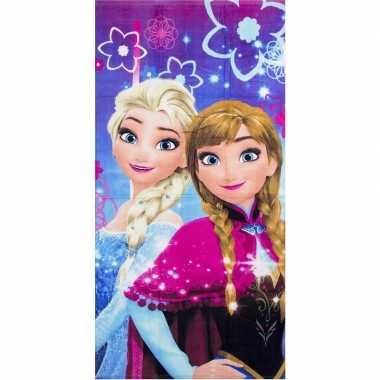 Disney frozen strandlaken/strandlaken paars/roze 70 x 140 cm groot