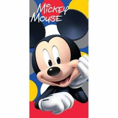 Disney mickey mouse strand/bad handdoek 70 x 140 cm groot