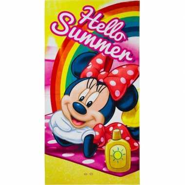 Disney minnie mouse summer strandlaken/strandlaken 70 x 140 cm groot