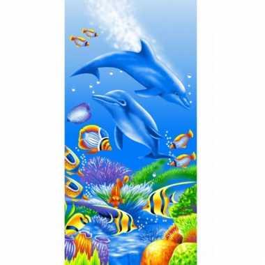 Dolfijn strandlaken 75 x 150 cm groot