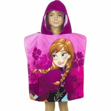 Frozen anna badcape roze voor kinderen groot