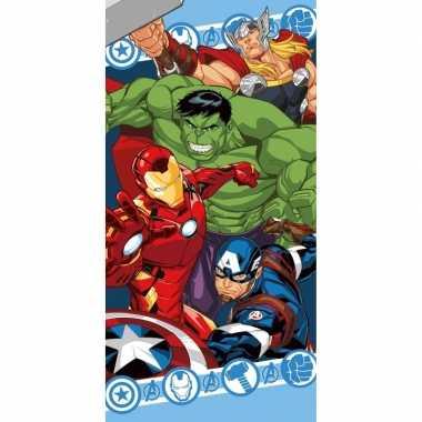 Marvel avengers strand/bad handdoek 70 x 140 cm groot