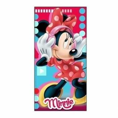 Minnie mouse strandlaken/strandlaken muziek 70 x 140 cm groot