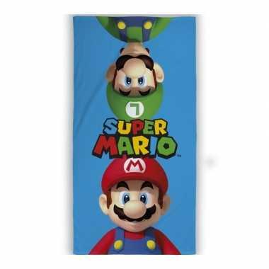 Nintendo super mario strand/bad handdoek 70 x 140 cm groot
