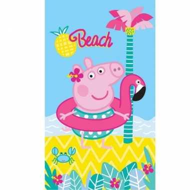 Peppa pig strand/bad handdoek 70 x 120 cm groot