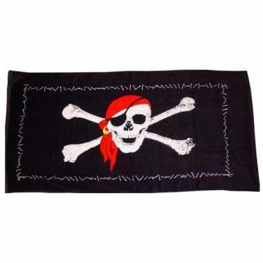 Piraten strandlaken 75 x 150 cm groot