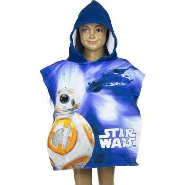 Star wars bb 8 badcape blauw voor kinderen groot