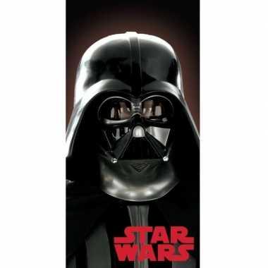 Star wars darth vader strand/bad handdoek 70 x 140 cm groot