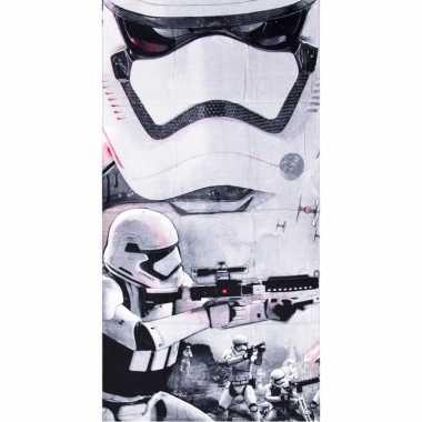 Star wars stormtroopers strandlaken 70 x 140 cm groot