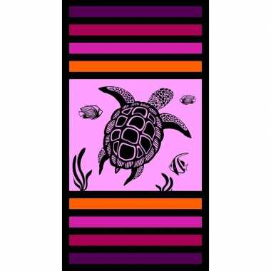 Strandlaken/strandlaken schildpad sandy kalina 95 x 175 cm groot