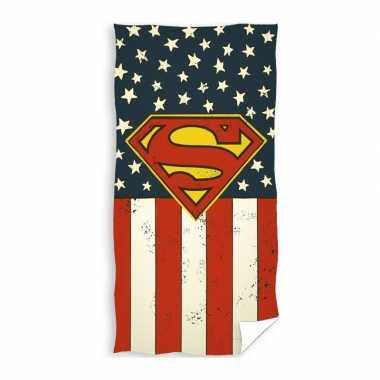 Superman strand/bad handdoek 70 x 140 cm groot