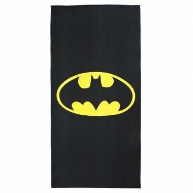 Zwarte batman strandlaken/strandlaken voor jongens groot