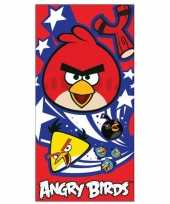 Angry birds handdoek 70 x 140 cm groot
