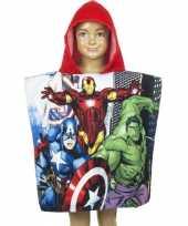 Avengers badcape rood voor kinderen groot