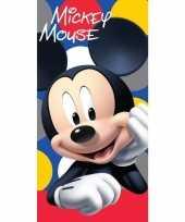 Disney mickey mouse strand bad handdoek 70 x 140 cm groot 10154897