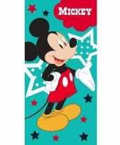 Disney mickey mouse strand bad handdoek 70 x 140 cm groot