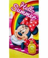 Disney minnie mouse summer strandlaken strandlaken 70 x 140 cm groot