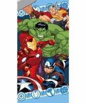 Marvel avengers strand bad handdoek 70 x 140 cm groot