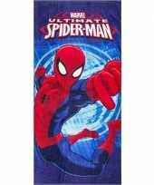 Marvel spiderman strandlaken strandlaken blauw 70 x 140 cm groot