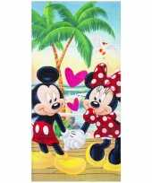 Mickey en minnie strandlaken strandlaken 70 x 140 cm groot