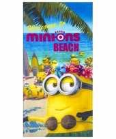 Minions beach strandlaken 70 x 140 cm groot