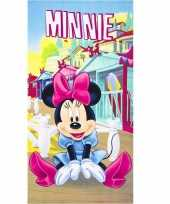 Minnie mouse strandlaken 70 x 140 cm groot