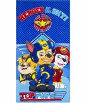 Paw patrol heroes strandlaken strandlaken blauw 70 x 140 cm groot