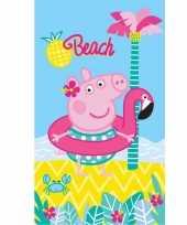 Peppa pig strand bad handdoek 70 x 120 cm groot