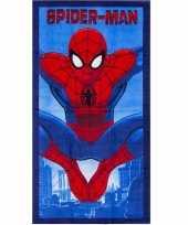 Spiderman strandlaken 70 x 140 cm blauw groot