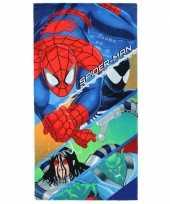 Spiderman strandlaken 70 x 140 cm groot