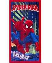 Spiderman strandlaken 70 x 140 cm rood groot