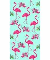 Strandlaken strandlaken flamingo print 70 x 140 cm groot