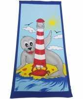 Strandlaken zeehond dier 70 x 150 cm groot