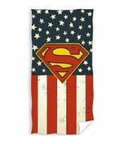 Superman strand bad handdoek 70 x 140 cm groot